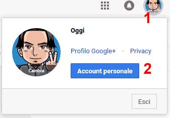 Account personale google