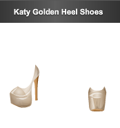 young hollywood katy golden heel shoes