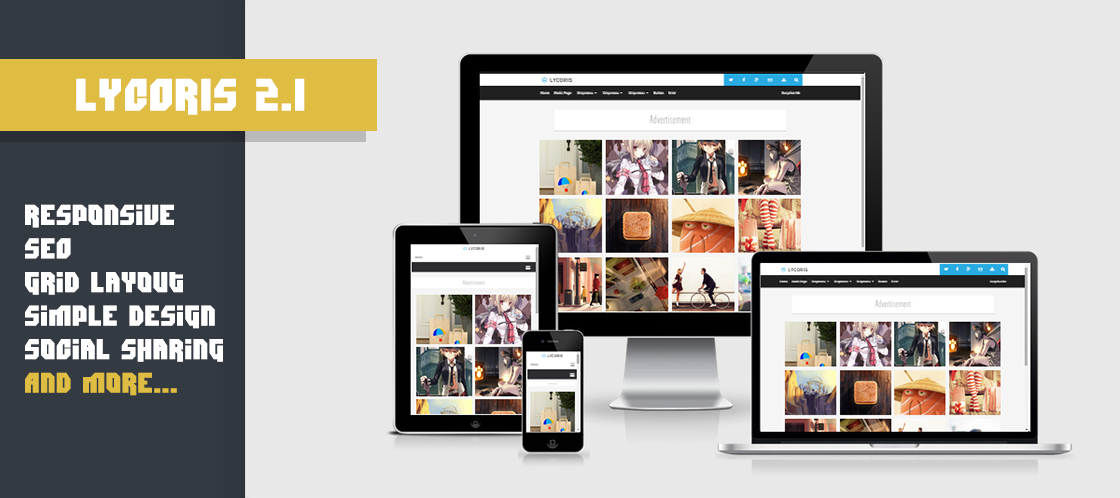 Lycoris 2 Responsive Blogger Template