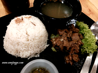nasi daging black pepper