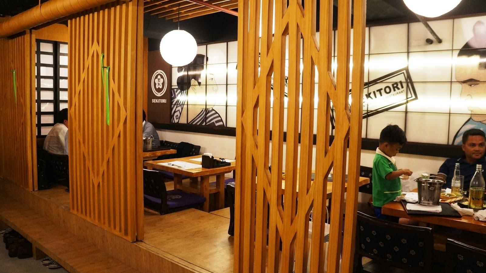 Sekitori authentic japanese restaurant wazzup pilipinas for Japanese interior design concept
