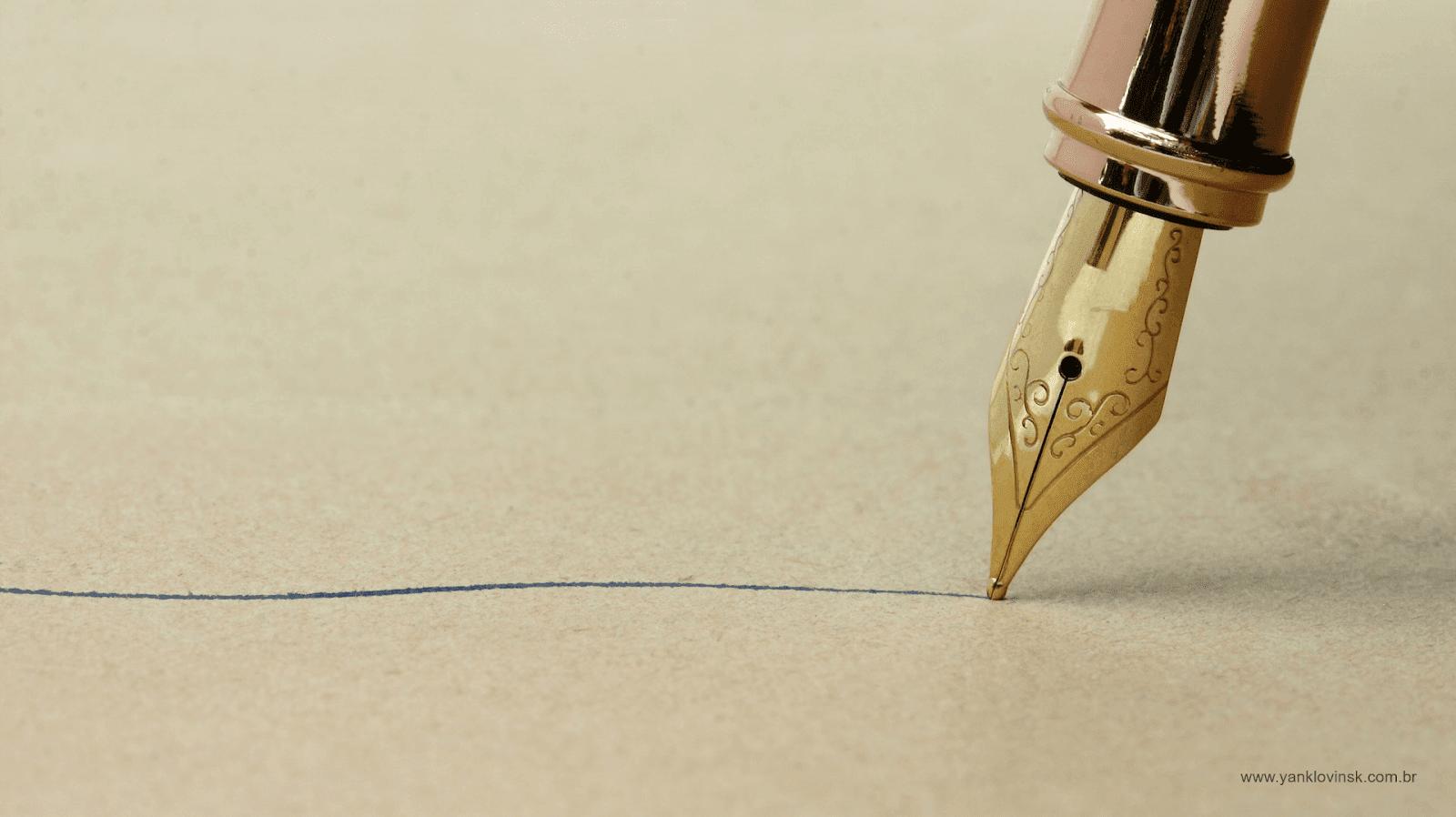 caneta escrevendo