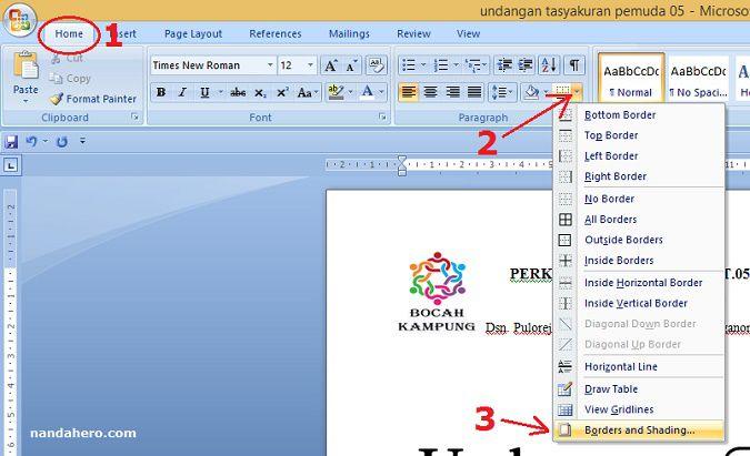 Cara menciptakan garis KOP surat di Microsoft Word Tutorial menciptakan garis KOP surat di Microsoft Word 2007, 2010+, 2013+, 2016+