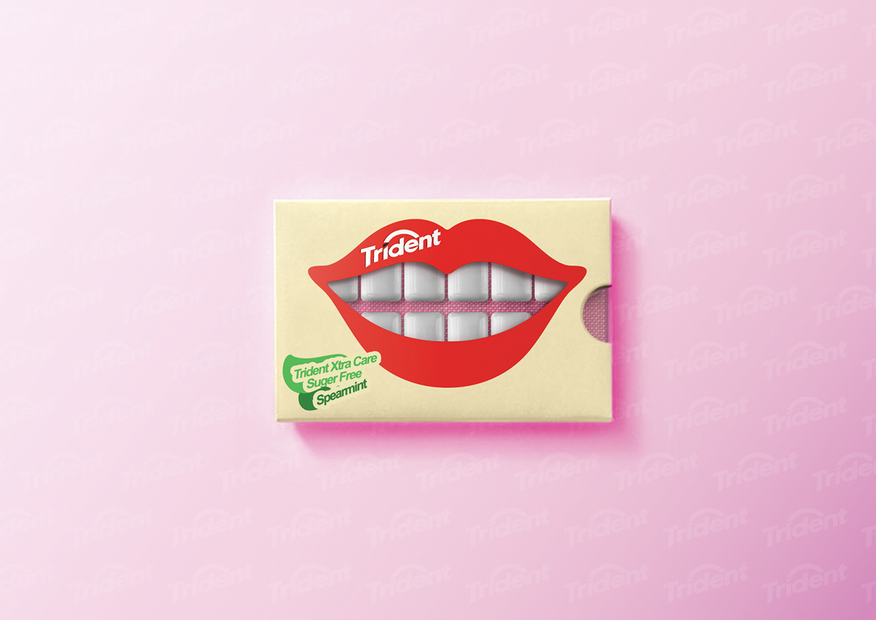 Trident Gum Concept On Packaging Of The World Creative
