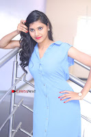 Telugu Actress Mounika UHD Stills in Blue Short Dress at Tik Tak Telugu Movie Audio Launch .COM 0249.JPG