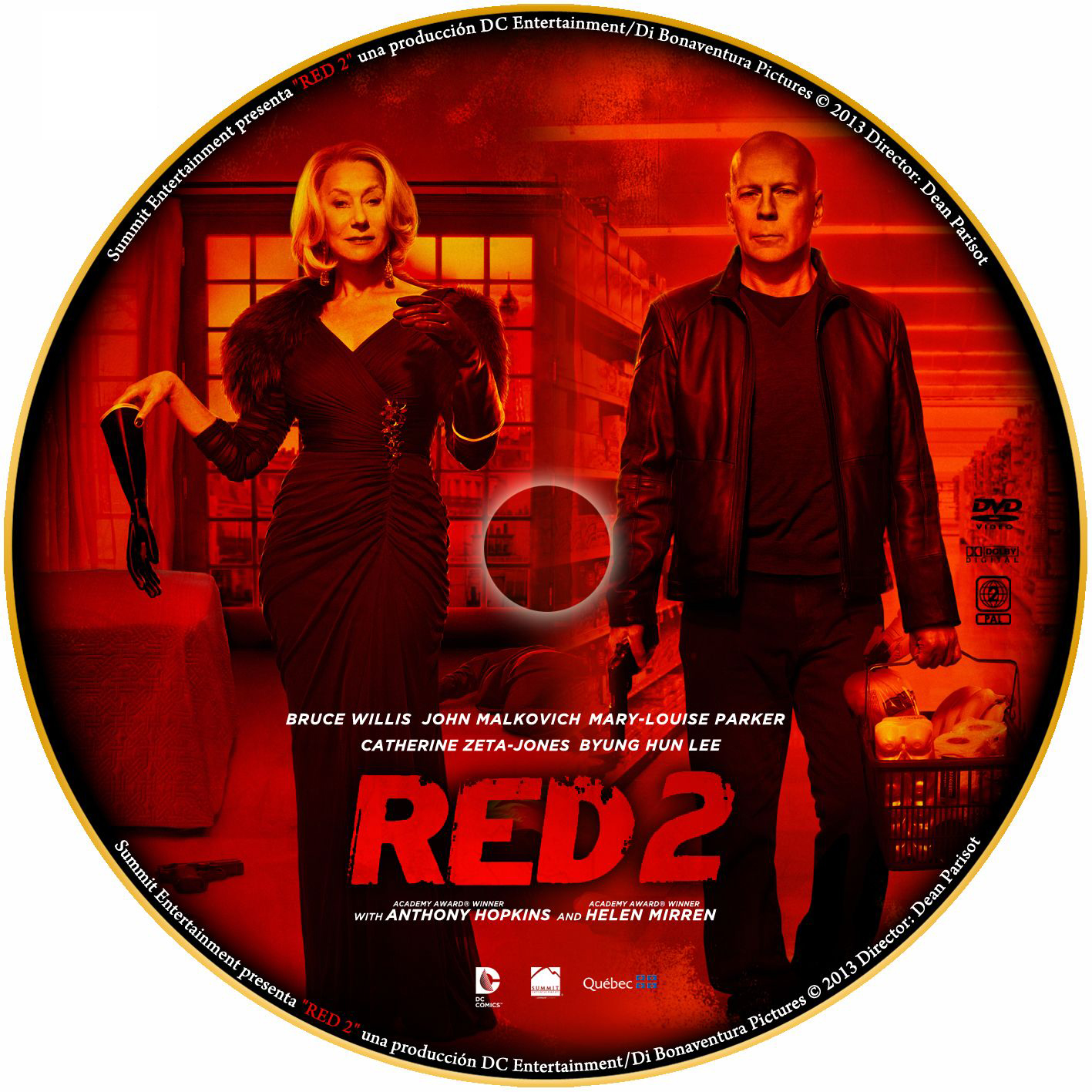 Red 2 2013 Dvd Cover L...
