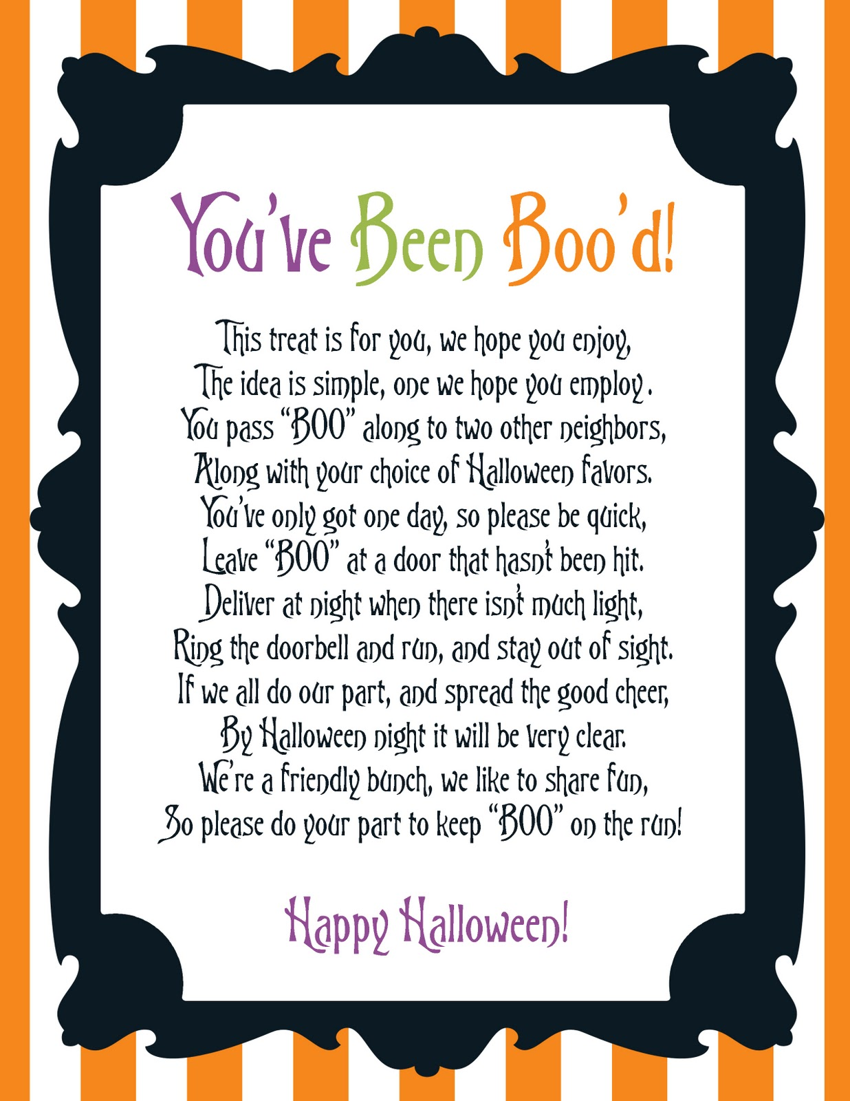 It's just a picture of You've Been Booed Printable intended for pdf