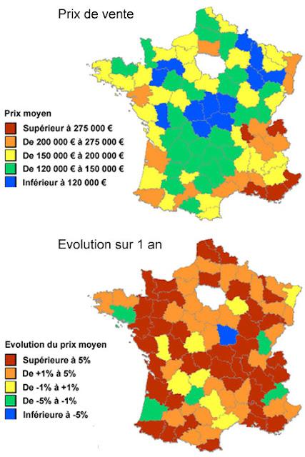 Journal de marcel l 39 investisseur tendance du prix des maisons en france - Maison prefabriquee france prix ...