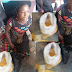 Shocking! Woman Caught Mixing Grinded Pepper With Akamu Garri & Palm Oil In Abraka Main Market (See Photos)