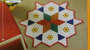 Patrones de Alfombras Crochet con diseño geométrico