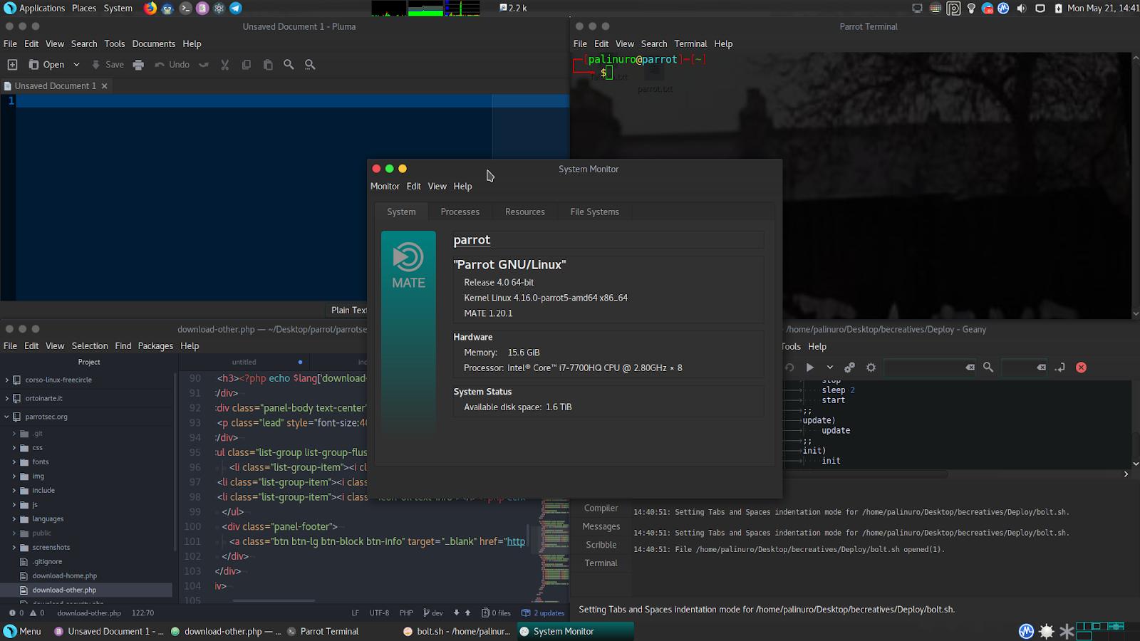 Parrot Security 4 0 - Security GNU/Linux Distribution