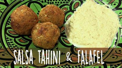 Salsa tahini falafel