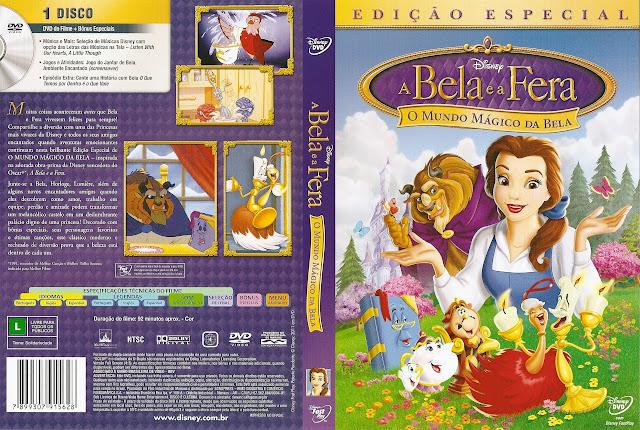 Capa DVD A Bela e a Fera O Mundo Mágico da Bela