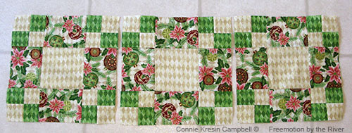Joining three blocks for the table runner tutorial