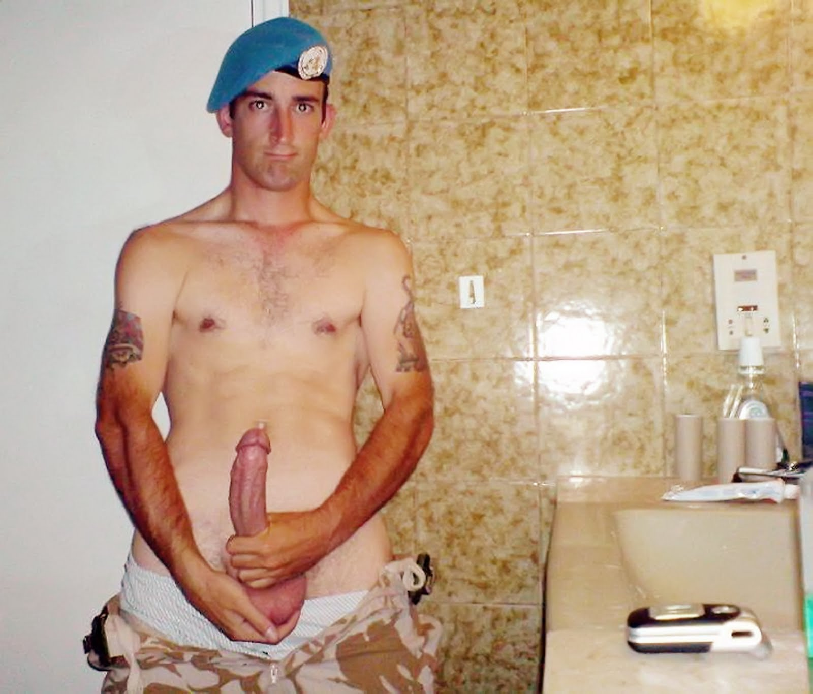 men from the army naked