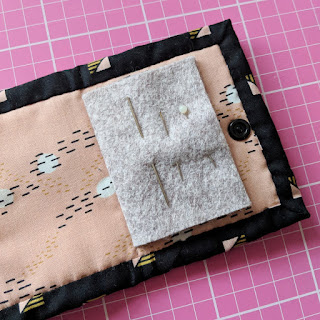 Little Quilt needle case, needle book tutorial by Charm About You