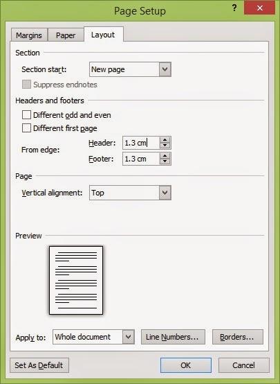 Menyesuaikan Lembar Kerja Ms Word Page Layout Indowhiz
