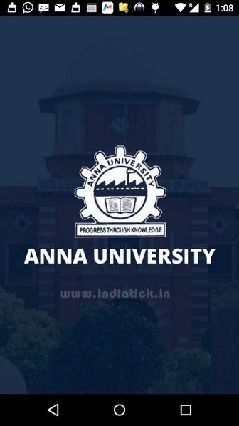 After Installing you need to open the ULX Anna University Application from your installed App