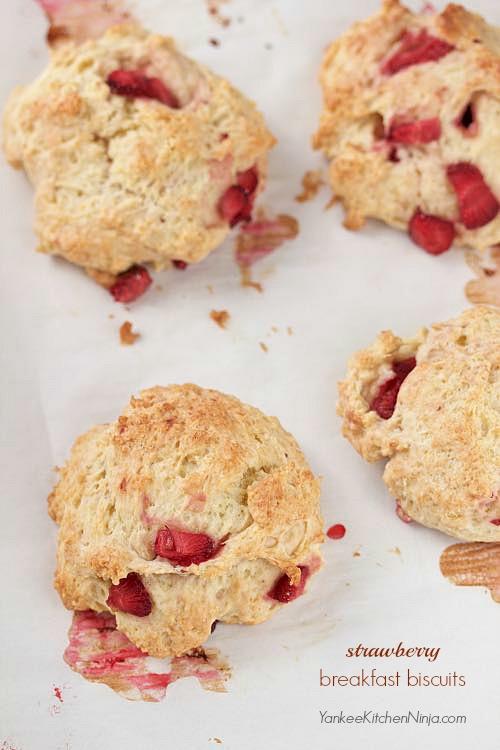Easy fresh strawberry breakfast biscuits