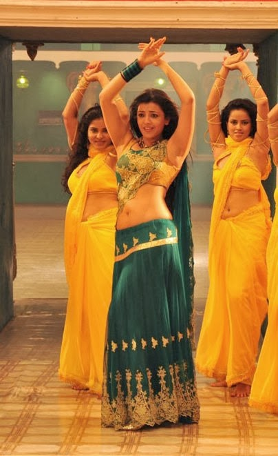 Kajal Agarwal Latest Hot Navel Show Stills From All in All Azhagu Raja Movie