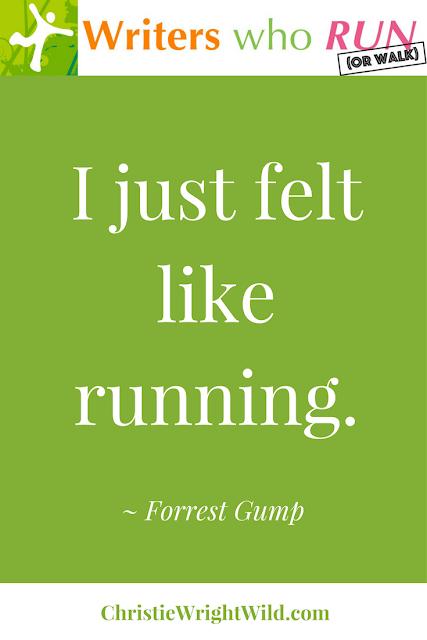 """I just felt like running."" ~ Forrest Gump, Forrest Gump || funny running signs, best motivational race signs"