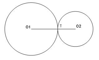 3 eso carande tangencias for Exterior a la circunferencia