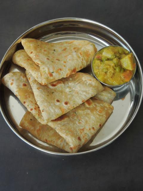 Tofu, Zucchini & Carrot Paratha