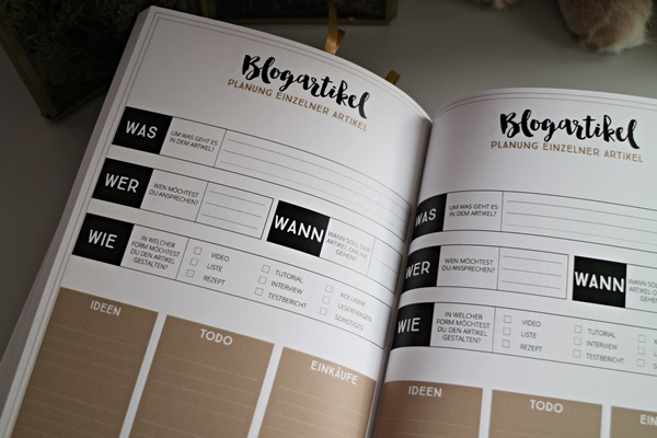 Blog Planer von Kreavida - www.josieslittlewonderland.de - ordnung muss sein, blogger essentials