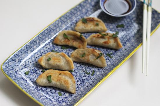 Miso mushroom gyoza - organic recipes