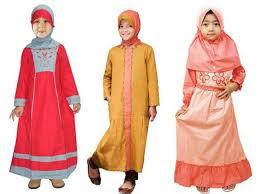 Model Pakaian Muslim Gamis Syar'i Anak Perempuan Terbaru