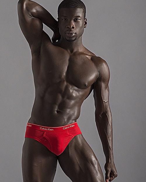 Sexy black man white