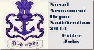 Naval Armament Depot Visakhapatnam Recruitment 2016 Non-Industrial (Group B), Tradesman – 100 Posts
