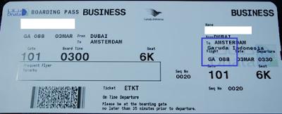 contoh kode dan nomor penerbangan
