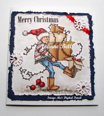 ho ho whoa - carrying boxes of Christmas decorations