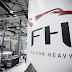 Spacex shows a Falcon Heavy at the Rocket Factory