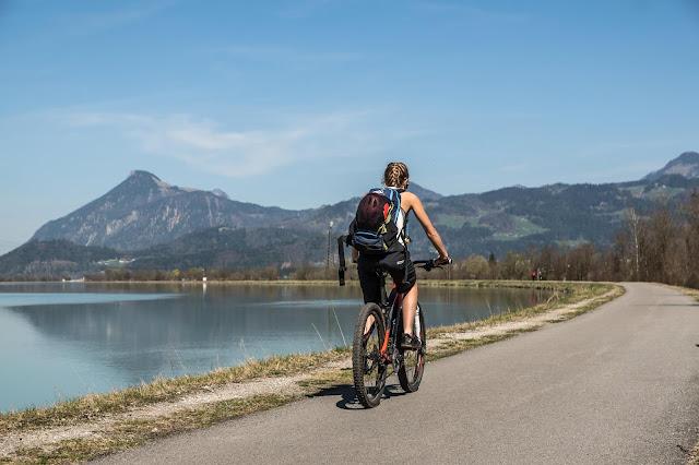 Rückfahrt am Inn Entlang mit dem Mountainbike