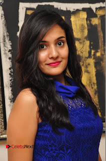 Actress Radha Pictures in Blue Short Dress at talabbayi Audio Launch  0027