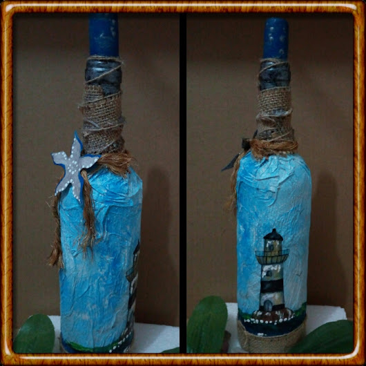 Decorar botellas estilo marino