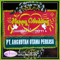 jual bunga papan wedding