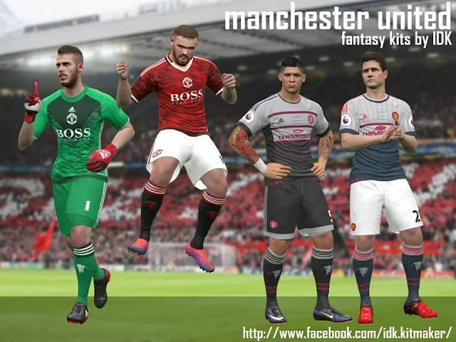 PES 2017 MUFC Fantasy Kits Pack II by IDK
