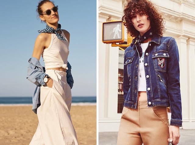 Девушки в джинсовках с шейным платком