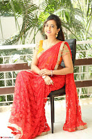 Lasya Cute Beauty in Saree Backless Choli at her Interview ~  Exclusive 040.JPG
