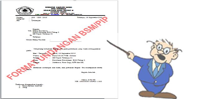 Format Undangan Calon Penerima BSM/PIP
