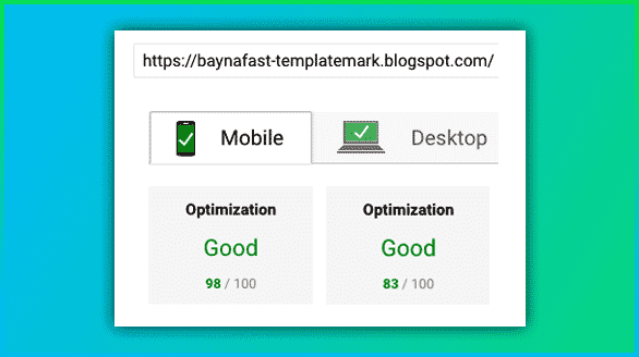 Page Speed Insights Blogger Template