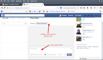 cara mengirim pesan secara Masal di Facebook