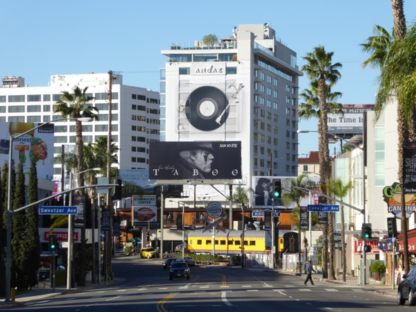 Taboo TV billboard Sunset Strip