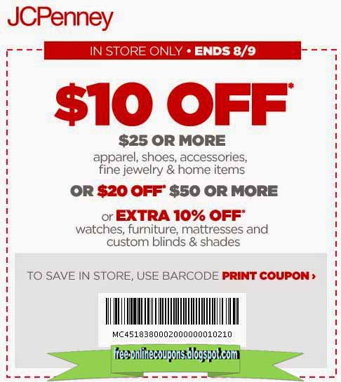 Jc jcpenney coupons