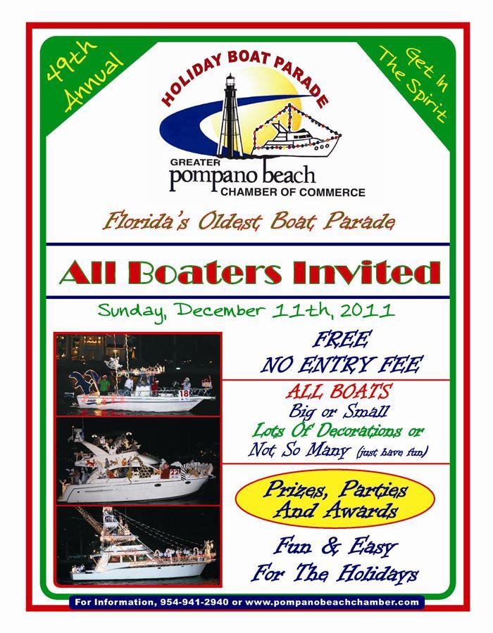 Pompano Beach Boat Parade And Yuletide Parade Keeping Up