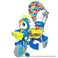 Sepeda Roda Tiga Royal RY97821CJ Baby JacQ Dobel Musik Jok Kain