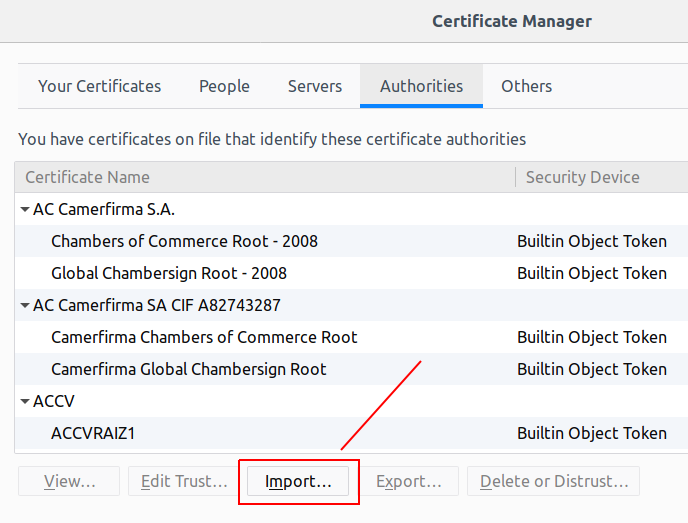 Install SSL Localhost  Import Certificate on Firefox
